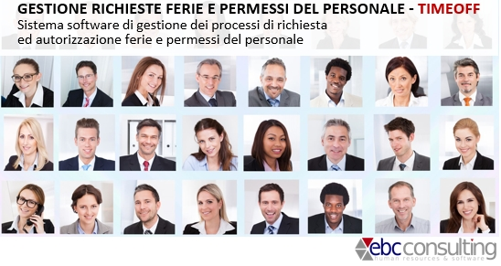 Software di Gestione ferie permessi del personale TIMEOFF H1 Hrms ebcconsulting